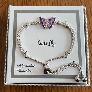 Costume adjustable butterfly bracelet